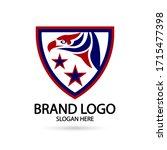 cool eagle logo. for modern... | Shutterstock .eps vector #1715477398