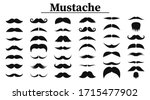 set of mustaches. black... | Shutterstock .eps vector #1715477902