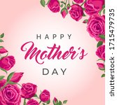 happy mother's day square... | Shutterstock .eps vector #1715479735