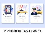 taxi service concept... | Shutterstock .eps vector #1715488345
