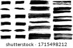 hand drawn brush stroke... | Shutterstock .eps vector #1715498212