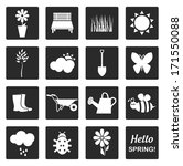 spring icons | Shutterstock .eps vector #171550088