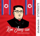 april 27  kim jong un the... | Shutterstock .eps vector #1715502172