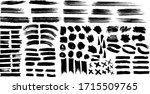 set of black ink  grunge  ink ... | Shutterstock .eps vector #1715509765