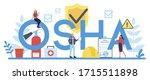 osha typographic header concept.... | Shutterstock .eps vector #1715511898