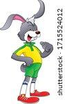 cartoon cute rabbit wearing...   Shutterstock .eps vector #1715524012