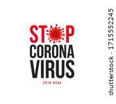stop coronavirus headline...   Shutterstock .eps vector #1715552245