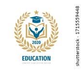 education badge logo design.... | Shutterstock .eps vector #1715559448