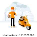 a man who is wearing mask to... | Shutterstock .eps vector #1715562682