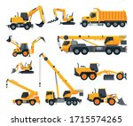 construction heavy machinery... | Shutterstock .eps vector #1715574265