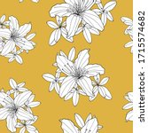 Outline Seamless Pattern With...