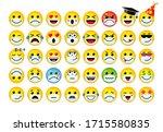 3d icons emoji set in medical... | Shutterstock .eps vector #1715580835