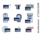 credit card color icon set   Shutterstock . vector #1715613268