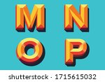 colored vector letters m n o p... | Shutterstock .eps vector #1715615032