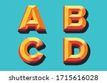 colored vector letters a b c d... | Shutterstock .eps vector #1715616028