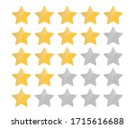 rating stars. five stars... | Shutterstock .eps vector #1715616688