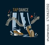 man performing a tap dance in a ... | Shutterstock .eps vector #1715622532