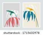 botanical poster design  indoor ... | Shutterstock .eps vector #1715632978