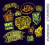 hand drawn sale lettering signs ... | Shutterstock .eps vector #1715640352