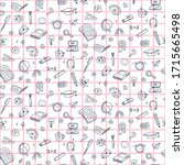 vector seamless pattern with... | Shutterstock .eps vector #1715665498