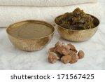 ghassoul  savon beldi and henna ... | Shutterstock . vector #171567425