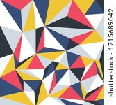 vector colorful geometric...   Shutterstock .eps vector #1715689042