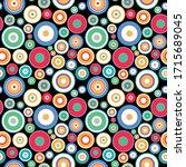 vector seamless geometric...   Shutterstock .eps vector #1715689045