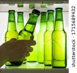 Green Beer Bottles Chilled In...