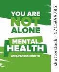 mental health awareness month... | Shutterstock .eps vector #1715699785