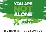mental health awareness month... | Shutterstock .eps vector #1715699788