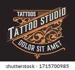tatto logo. vintage style with... | Shutterstock .eps vector #1715700985