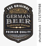 vintage  beer label design... | Shutterstock .eps vector #1715700988