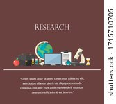 research illustration concept...   Shutterstock . vector #1715710705