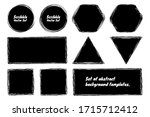 black grunge abstract... | Shutterstock .eps vector #1715712412