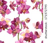 seamless floral background with ... | Shutterstock . vector #171572795