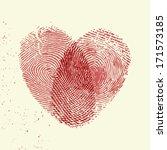 valentine background  red... | Shutterstock .eps vector #171573185