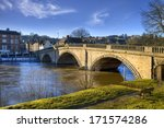 The Old Bridge Spanning The...