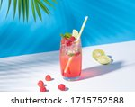 Iced Red Raspberry Punch...