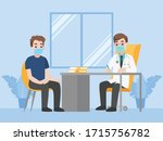 man see doctor for check... | Shutterstock .eps vector #1715756782