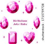 july birthstone  ruby... | Shutterstock .eps vector #1715759728