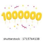one million golden balloons... | Shutterstock .eps vector #1715764138