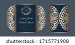laser cut wedding invitation... | Shutterstock .eps vector #1715771908