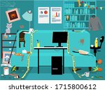 messy dirty room with a clean... | Shutterstock .eps vector #1715800612