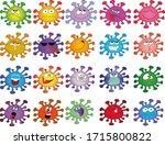 set of funny virus emoticons   Shutterstock .eps vector #1715800822
