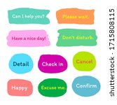 set of colorful sticker with... | Shutterstock .eps vector #1715808115
