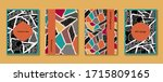 hand drawn abstract poster set. ...   Shutterstock .eps vector #1715809165