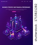 business strategy and financial ... | Shutterstock .eps vector #1715821282