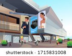 a vector illustration of people ... | Shutterstock .eps vector #1715831008
