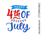 happy fourth of july hand... | Shutterstock .eps vector #1715841862