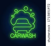 Carwash Neon Word And...